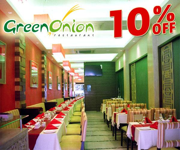 Green Onion Restaurant offers India