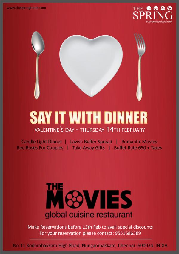 The Movies Restaurant offers India