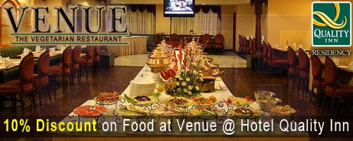 Venue - The Vegetarian Restaurant offers India